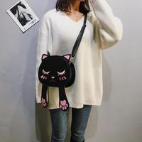8f2232a99ac62 Cute Cat Handbags School Women Pu Leather Handbags For Teenage Girls Funny  Cats Ears Canvas Shoulder