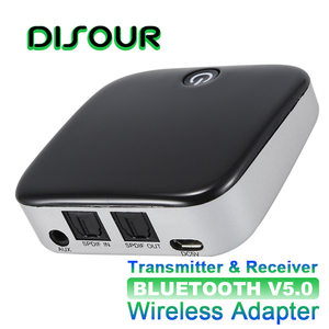 Image 1 - DISOUR BTI029 2 IN 1 Bluetooth 5.0 Receiver Transmitter CSR8670 Wireless Audio Adapter SPDIF 3.5MM AUX Audio For TV Car ATPX HD