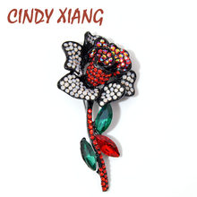 CINDY XIANG Full Rhinestone Rose ดอกไม้(China)