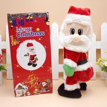 LeadingStar 14 cal boże narodzenie elektryczny hiszpański muzyka lalka święty Mikołaj dekoracje na boże narodzenie dla domu prezent na boże narodzenie tanie i dobre opinie 2-4 lat CN (pochodzenie) Edukacyjne PTO_040X Zabawki telefony Czerwony Unisex