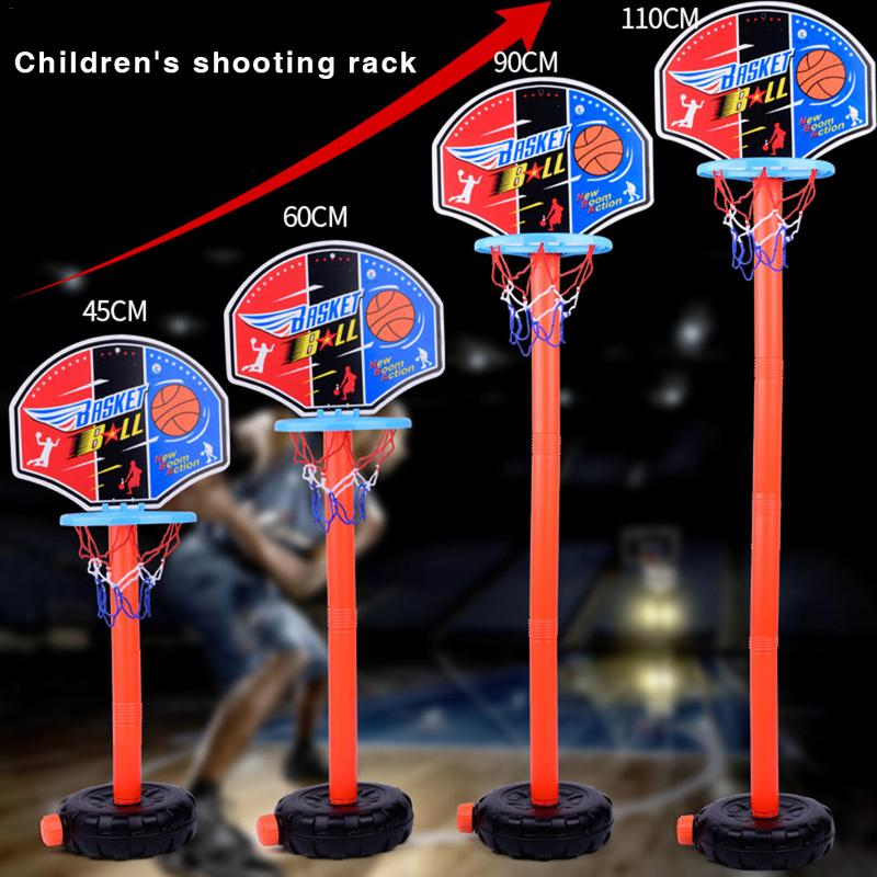 New Portable Adjusted Children's Portable Basketball Stand Lifting Indoor And Outdoor Plastic Basketball Loop Easy To Assemble