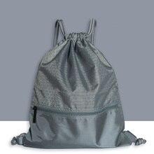 Для женщин и мужчин для верховой езды Мода Открытый практичный нейлон Спортивный Рюкзак сплошной большой емкости путешествия фиксатор шнурка анти-всплеск