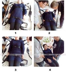 Image 2 - Podnośnik pacjenta przenoszenie deski pasowej awaryjne krzesło ewakuacyjne wózek inwalidzki całe ciało medyczne podnoszenie pas przesuwny do łóżka
