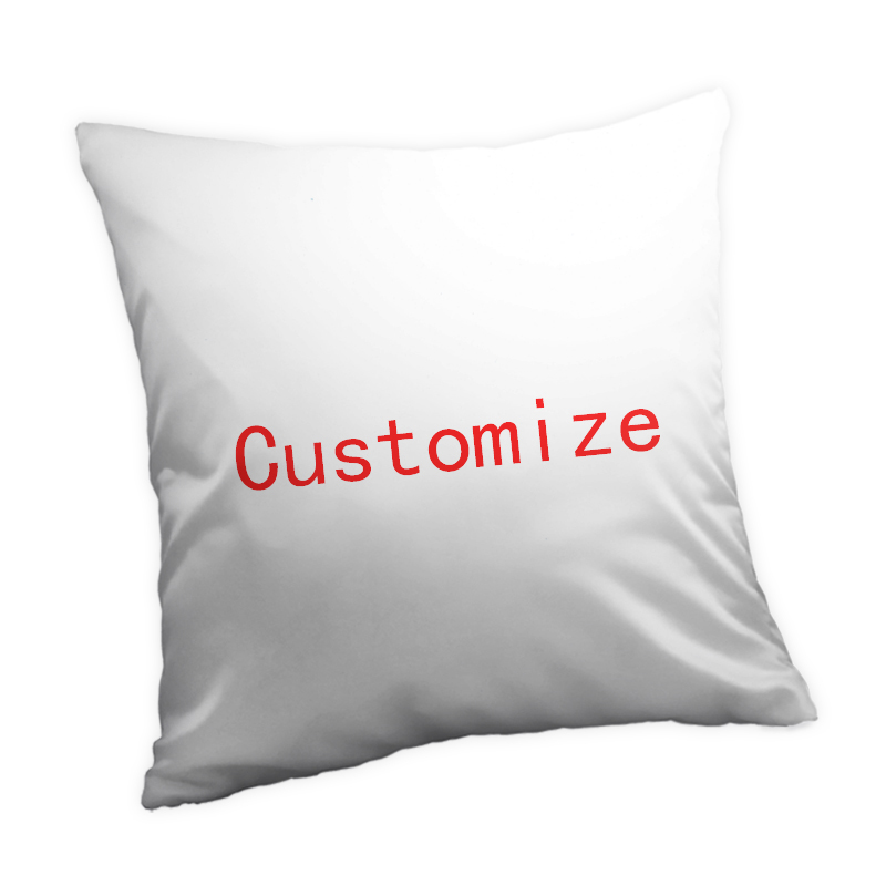 3 Fabric Customized 35*35/45*45/50*50/60*60cm blank Pillow Case Both Side Print Sublimation Throw Pillow Cover With Your Design