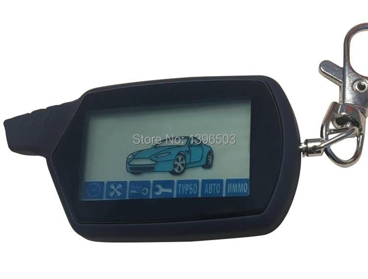 Wholesale A91 LCD Remote Control Keychain For Russian Vehicle Security Two Way Car Alarm System Starline A91 Key Fob Chain