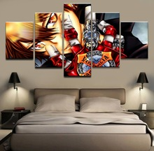 5 Panels Anime Katekyo Hitman Reborn Modular Picture Wall Art Draw Home Decorative Living Room Modern Canvas Print Painting стоимость