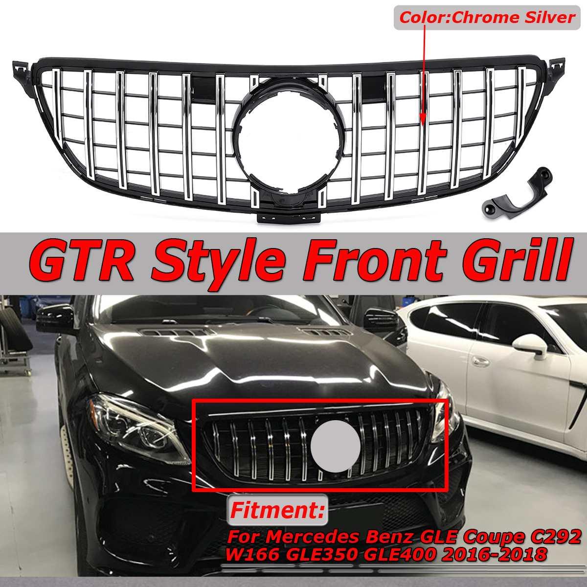 GTR GT R Estilo W292 C292 Frente Car Bumper Grill Grille Para Benz Coupe GLE W292 C292 GLE320 GLE350 GLE400 GLE450 2016-2018