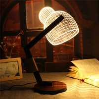 3D LED Wool Cap Lamp Illuminated USB Adjustable Dimmable Light Desk Night Lamp Creativity Gift Night Light Home Decor