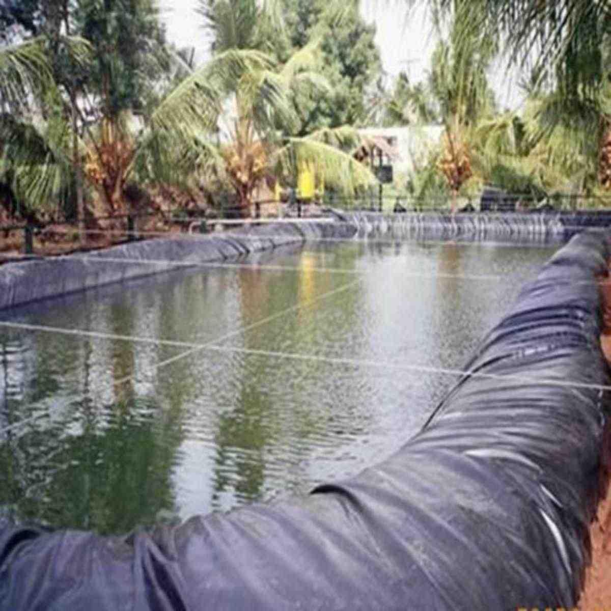 10x4 m בריכת הדגים ליינר בד בית גן בריכת מחוזק HDPE כבד גינון בריכת בריכה עמיד למים אוניית בד שחור חדש