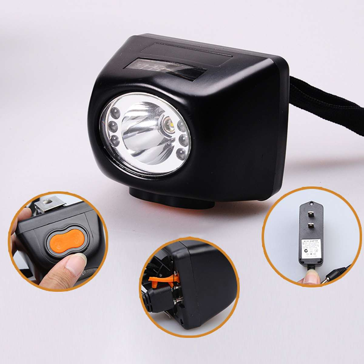 3W 4500LM Black Miners Cordless Power LED Helmet Light Lamp Torch Protective Helmet Part Workplace Safety Protection Supply New