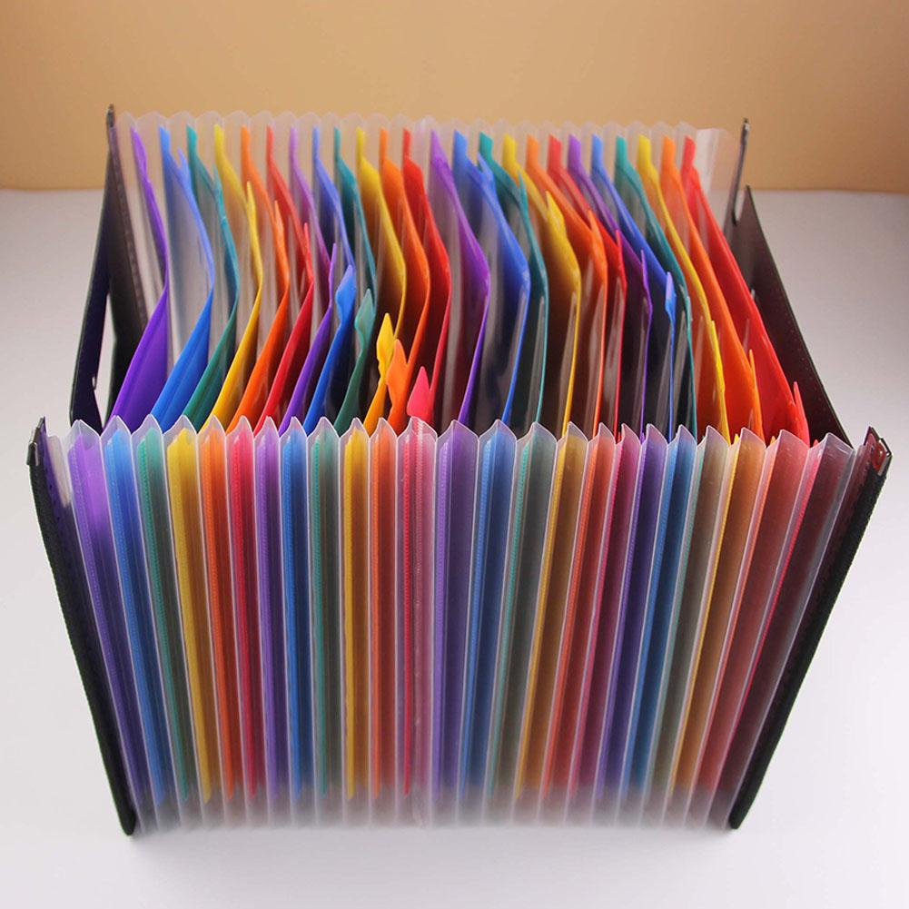 Expanding File Folder A4 Letter Size 24 Pockets Colorful Paper Hold Document Folder  Organizing And Storing Important Papers R20