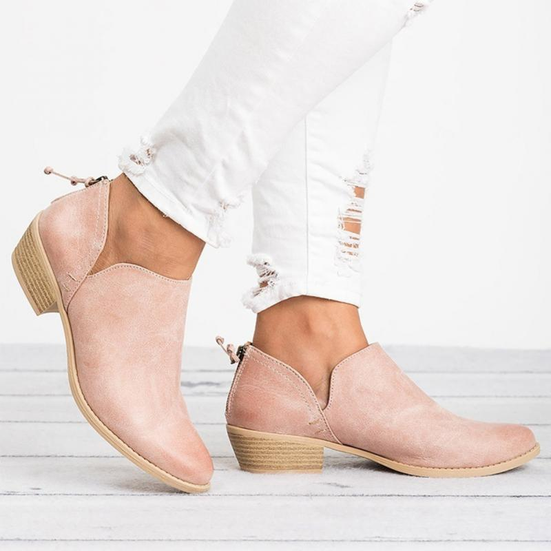 Spring Autumn Women Butterfly-knot Chelsea Boots Slip-On Med High Heels Pointed Toe Shoes Woman 4