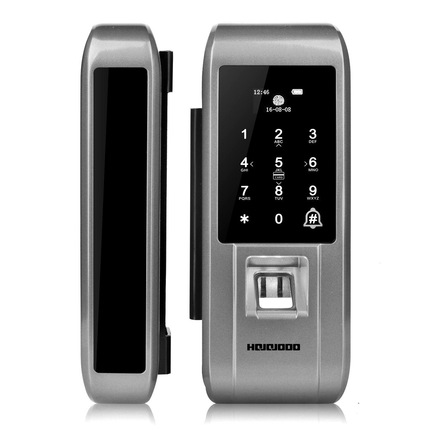 Fingerprint Password Code Pin Electronic Digtial Door Lock 50uA Support Chinese and English voice prompt and volume adjustment