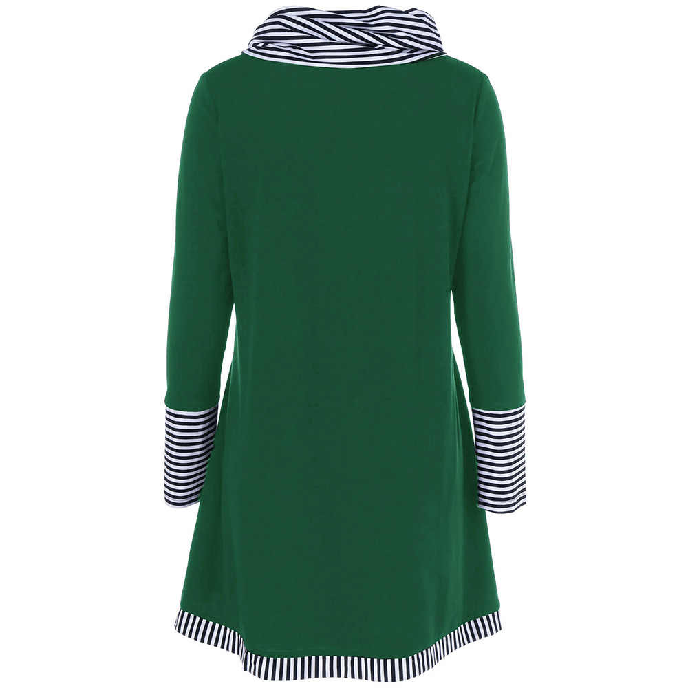 Весенне-осенние женские футболки с длинными рукавами в тонкую полоску с карманами в стиле пэчворк; женские рубашки; женские пуловеры нестандартной длины