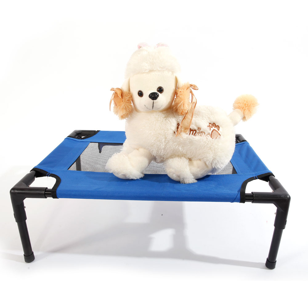 Access Control Forceful Detachable Assembly Style Breathable Pet Steel Frame Camp Bed S Royal Blue