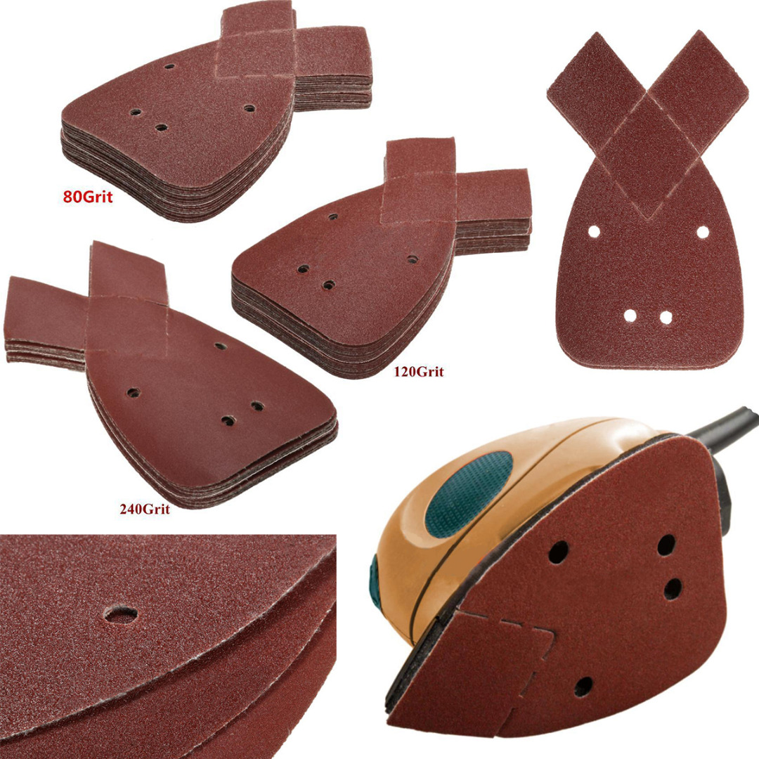 80/120/180/240 Grits Mouse Sanding Sheets Sander Pads Set For Black & Decker New