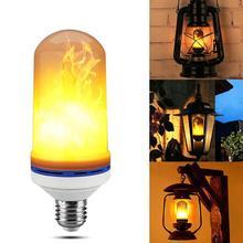 Креативный 4 режима 2835 Светодиодный светильник с гравитационным датчиком, алюминиевые лампы E27 9 Вт, имитирующая пожарную лампочку, светильник для улицы