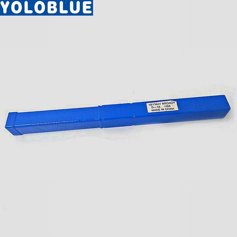 12mm D poussoir Type Keyway Broach Cutter & cale HSS haute vitesse en acier CNC outil de coupe avec cales nouveau