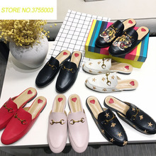 c2ac2db8eca Brands Women Spring Mules Fashion Flat Heel Slip On Slides Embroidery  Pattern Shoes Backless Loafer(