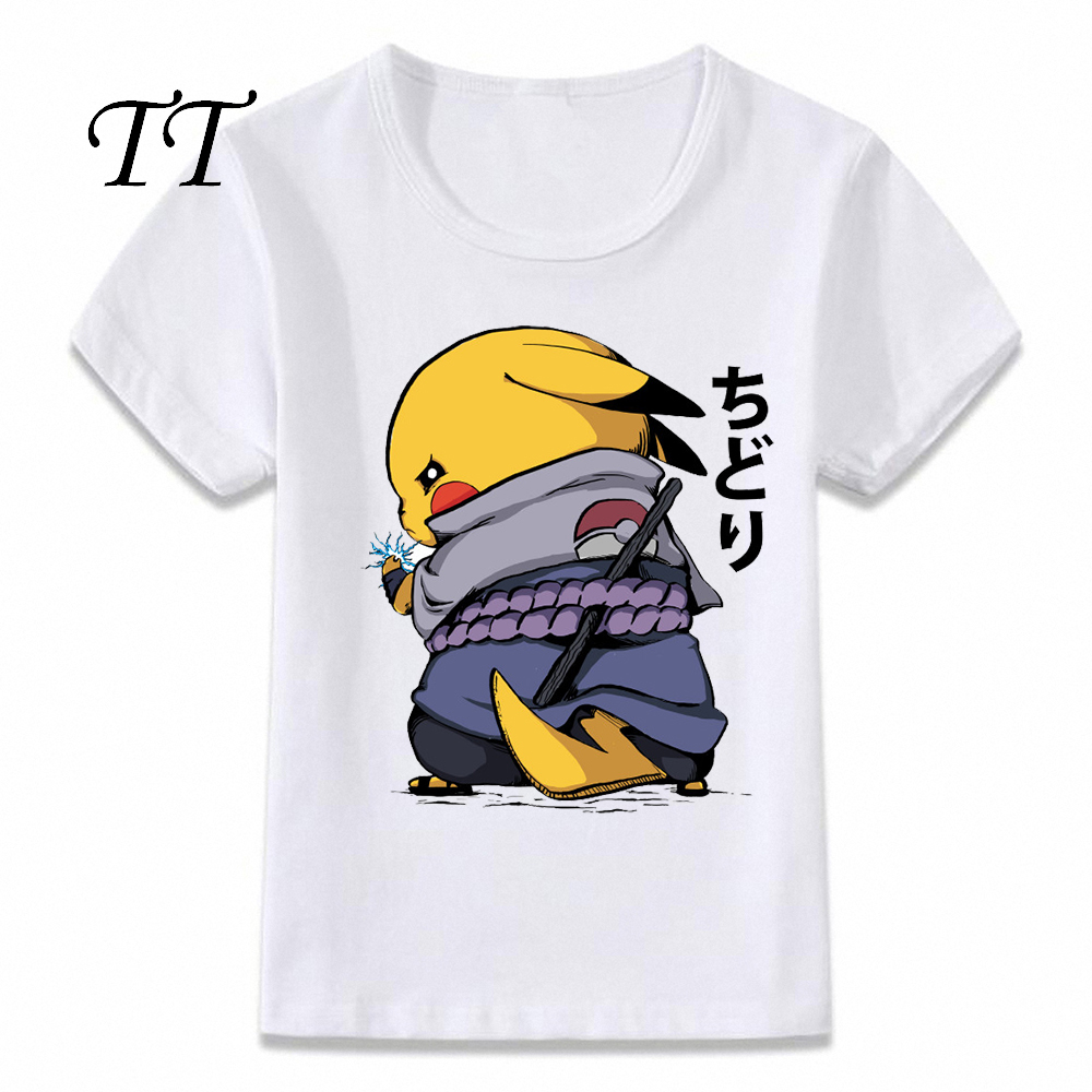 Kids Clothes T Shirt Chidori Sasuke Naruto Pikachu Pokemon T shirt for Boys and Girls Toddler Shirts Tee|T-Shirts| - AliExpress