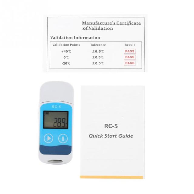 RC-5 Temperature Data Logger Mini Recorder LCD Display 32000 Points Internal Sensor Digital Temperature Sensor Temp Monitor