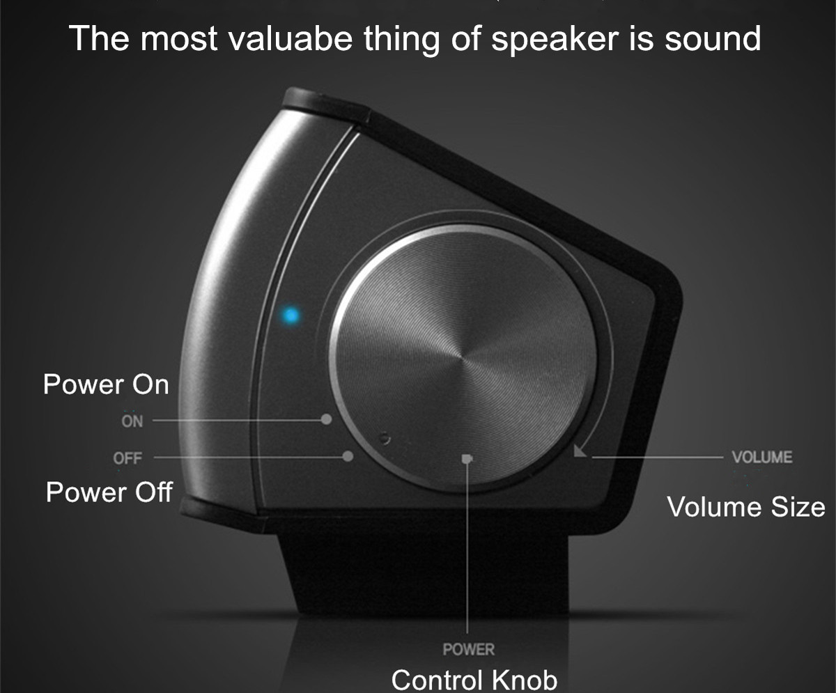 Wired Soundbar Lautsprecher System 6W USB Multimedia Audio HIFI Stereo Sound Bar Für Computer PC Laptop Desktop Smart Telefon