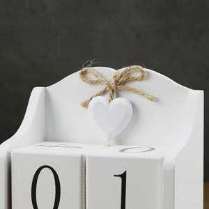 Image 5 - 2019 Creative Diy Wood Block Perpetual Calendar Desk Figurines Calendar Wood Calendar Fashion Home Office Decoration Gift Whit