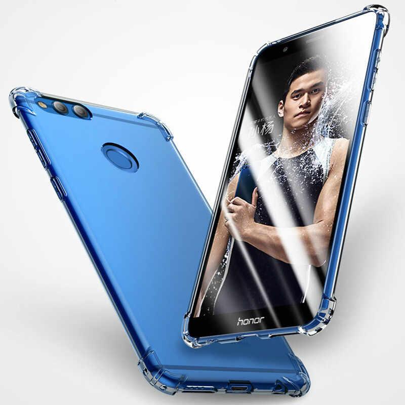 Clara suave TPU de funda del teléfono para Huawei P20 P30 amigo 20 Pro Lite Nova 3 3i Honor 10 Lite 8X funda trasera para Airbag Play 9i 7C a prueba de golpes