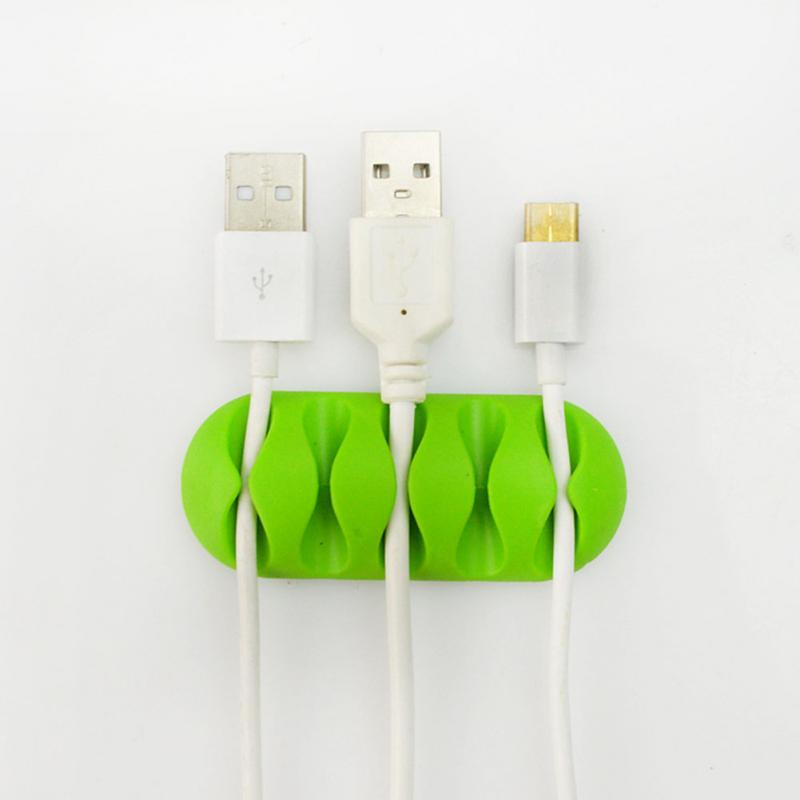 Power Cords Charging Cables Clip USB Cord Management System Desktop Cable Organizer Cable Holde For MP3, MP4, Earphone #1228