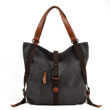 2018 Canvas handbag vintage popular Bags Female big capacity travel totes Shoulder Bag Multi-Function Bucket Ladies Large Bolsos