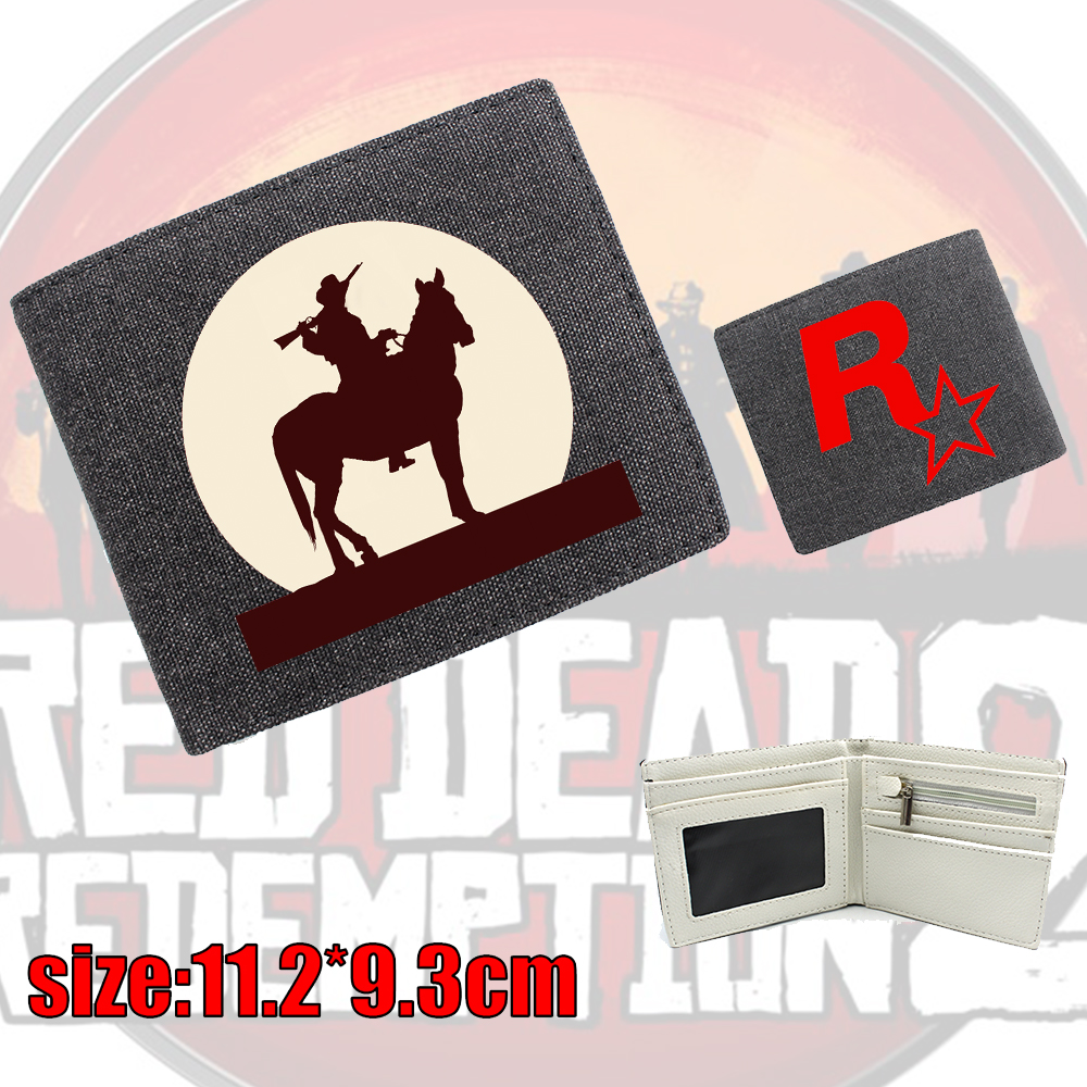 Giancomics Hot Red Dead Redemption 2 Wallet Canvas Cartoon Fashion Money Coin Convenient Pocket Card Cool Holder Otaku Gifts