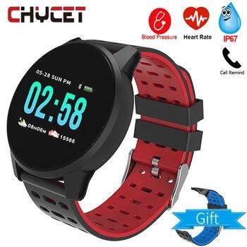 Fitness Tracker Smart Bracelet Blood Pressure Measurement Watch Heart Rate Monitor Waterproof IP67 Smart Band Watch Women Men