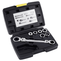 6 19Mm Universal Socket Set With Double Box Ratchet Wrench 13 In 1 Double Head Reversible Ratchet Combination Spanner