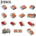 (30-50Pcs/Lot) WAGO 221 222-412 413 415 Mini Fast Wire Connectors,Universal Wiring Cable Connector,Push-In Terminal Block