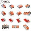 (30-50 unids/lote) 221 de WAGO 222-412, 413, 415 Mini rápido de conectores cableado Universal Cable conector Push-en bloque de Terminal