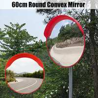 60cm Wide Angle Security Road Convex Mirror Curved for Outdoor Safurance Roadway Blind Spot Safety Traffic Signal Mirror