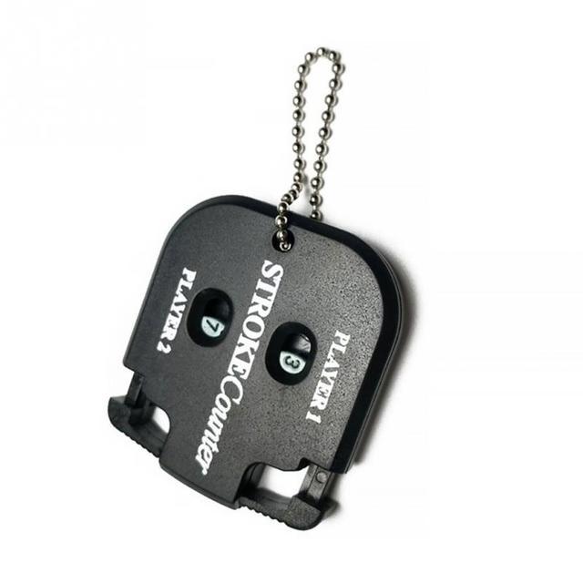 1 Pc Professional Portable Golf Stroke Shot Putt Score Counter With Key Chain Black