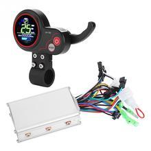 24V 36V 48V 60V 250 W/350 W rower elektryczny rower skuter sterownik wyświetlacz LCD Panel sterowania z przełącznik zmiany biegów E akcesorium rowerowe