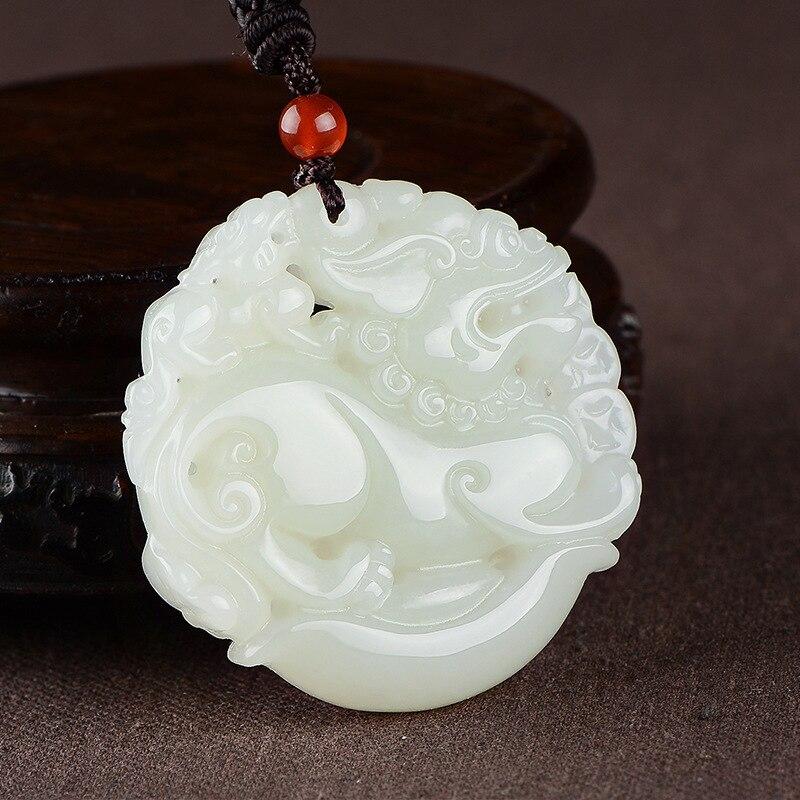 2019 Druzy Popsocket Buda vente directe d'usine naturel authentique Xinjiang hétien sculpté Double le mythique Animal sauvage pendentif