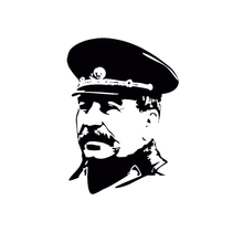 14.3cm*20cm  For Ussr Stalin In Uniform Car Stickers And Decals Auto Sticker