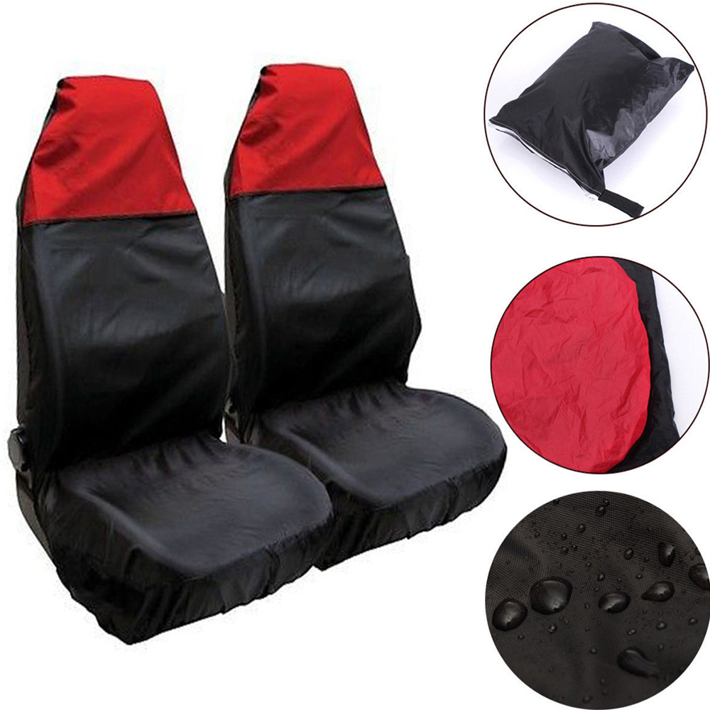 Protector Seat-Covers Baby-Seat Waterproof For Car Van 2PCS Cushion-Mat Nylon Heavy-Duty