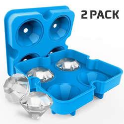 Ice Maker Diamond форма поднос кубик прессформы коктейли силиконовые для виски инструмент