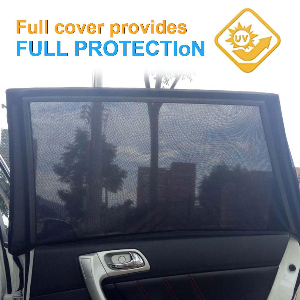 Sunshade Screen Curtain-Mesh Sun-Heat-Block Mosquito-Resistant Window SUV 2PCS Special