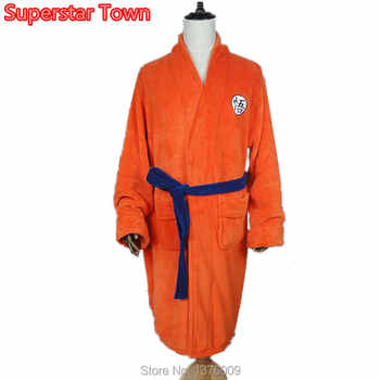 Japan Anime Dragon Ball Flannel Bathrobe Men Women Kimono Cosplay Goku Bath Robe Soft Anime Costume Dressing Gown - DISCOUNT ITEM  20% OFF All Category
