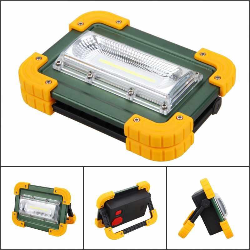 30 W COB LED Luz de inundación portátil USB recargable al aire libre proyector de jardín trabajo de seguridad paisaje proyector de pared