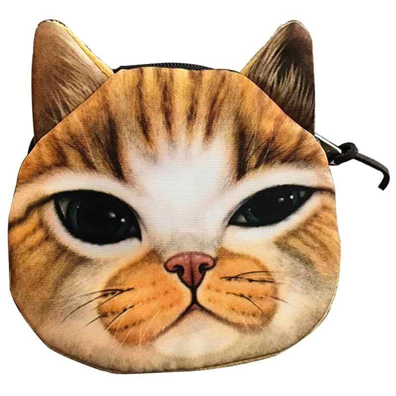 2018 Новый 3D Принт Кошелек Тигр Лев леопардовая голова Кошелек для монет животное маленький классный кошелек для детей креативный Рождественский подарок