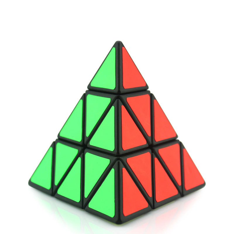3 Stage Triangle Pyramid Magic Cube 98*98*98mm Pyramid Magic Cube Puzzle Early Learning Educational Toys For Children Gifts