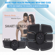 EMS Wireless Smart Muscle Stimulator Fitness Abdominal Training Device Electric Weight Loss Stickers Body Slimming Belt Unisex цены