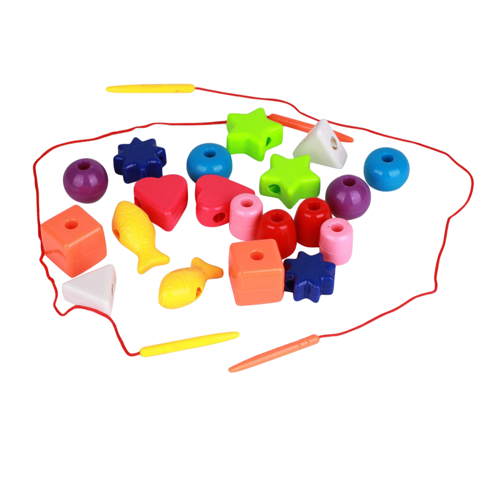 1 Set Lacing Beads Toy Game Early Learning Primary Educational Montessori Lacing Beads For Toddler Children Kids