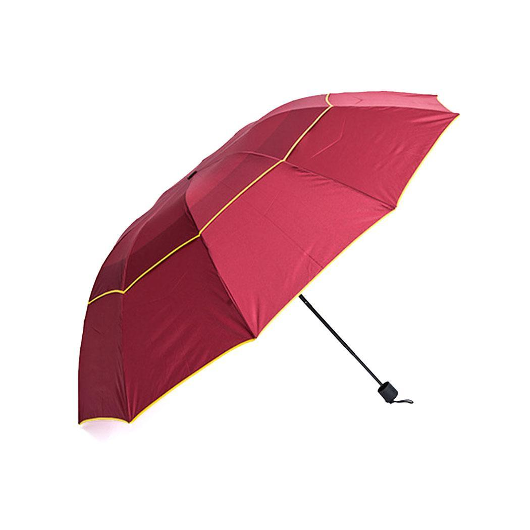 Folding 130 29 Solid Oversized inch Super 2 8 Umbrella 51 Double Round Layers 75 cm 5 Windproof Manual Tri fold 11